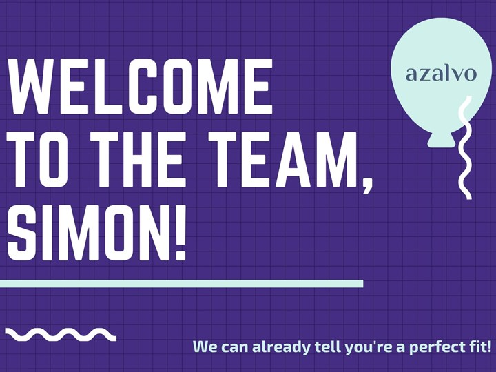 Welcome to the azalvo Team, Simon!