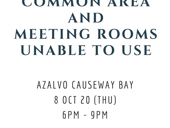 Common Area And Meeting Rooms Temporarily Unavailable